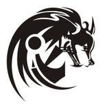 Φυλετικό επικεφαλής σύμβολο λύκων απεικόνιση αποθεμάτων