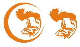 Φυλετικό λογότυπο σκιούρων Στοκ εικόνα με δικαίωμα ελεύθερης χρήσης