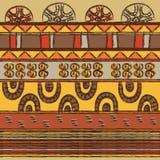 Φυλετικό σχέδιο με τα μοτίβα αφρικανικές φυλές Surma και Mursi Στοκ Εικόνες