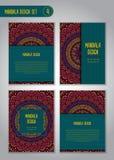 Φυλετικό σύνολο σχεδίου mandala διακοσμητικός τρύγος στ&o Στοκ Εικόνες