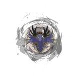 Φυλετικό ταραχώδες σκούρο μπλε λογότυπο του Phoenix Στοκ φωτογραφίες με δικαίωμα ελεύθερης χρήσης