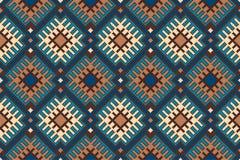 Φυλετικό των Αζτέκων άνευ ραφής γεωμετρικό σχέδιο ύφους Διανυσματικό εικονοκύτταρο Στοκ Εικόνα