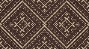 Φυλετικό των Αζτέκων άνευ ραφής σχέδιο στην πλεκτή μαλλί σύσταση Στοκ Φωτογραφίες