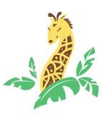 Φυλετικό giraffe κινούμενων σχεδίων Στοκ Εικόνες