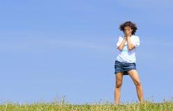 φωνάζοντας έφηβος κοριτσ στοκ εικόνες με δικαίωμα ελεύθερης χρήσης