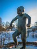 Φωνάζοντας γυμνό μωρό Στοκ Εικόνες