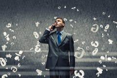 Φωνάζοντας επιχειρηματίας Στοκ Εικόνα