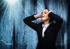 Φωνάζοντας επιχειρηματίας Στοκ εικόνες με δικαίωμα ελεύθερης χρήσης