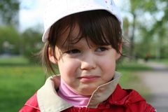 φωνάζοντας κορίτσι ελάχιστα Στοκ φωτογραφία με δικαίωμα ελεύθερης χρήσης