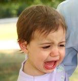 φωνάζοντας κορίτσι μωρών Στοκ φωτογραφία με δικαίωμα ελεύθερης χρήσης