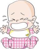 φωνάζοντας κορίτσι μωρών ελεύθερη απεικόνιση δικαιώματος