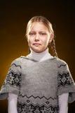 Φωνάζοντας μικρό κορίτσι Στοκ Εικόνα