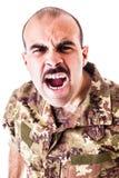 φωνάζοντας στρατιώτης Στοκ Φωτογραφία