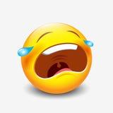 Φωνάζοντας λυπημένο emoticon, emoji, smiley - διανυσματική απεικόνιση Διανυσματική απεικόνιση