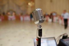 Φωνητικό μικρόφωνο στο γάμο Στοκ φωτογραφίες με δικαίωμα ελεύθερης χρήσης