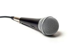 Φωνητικό συνδεμένο με καλώδιο μικρόφωνο κοντά επάνω Στοκ Φωτογραφίες