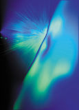 φως έκρηξης μπλε Στοκ φωτογραφία με δικαίωμα ελεύθερης χρήσης