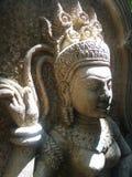 Φως ήλιων στην πέτρα Apsara Στοκ Εικόνα