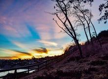 Φως ακτίνων ήλιων επάνω ο ουρανός στη Λα Χόγια, Καλιφόρνια Στοκ Φωτογραφία