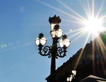 Φως λαμπτήρων και ήλιων Στοκ φωτογραφία με δικαίωμα ελεύθερης χρήσης