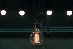 Φως λαμπτήρων στη θέση στούντιο Στοκ Εικόνες