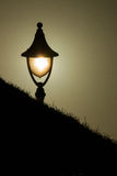 Φως λαμπτήρων στο ηλιοβασίλεμα στοκ εικόνες με δικαίωμα ελεύθερης χρήσης