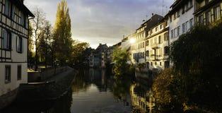 Φως απογεύματος στο Στρασβούργο στοκ φωτογραφίες