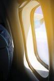 Φως από το παράθυρο του αεροπλάνου Στοκ Εικόνες