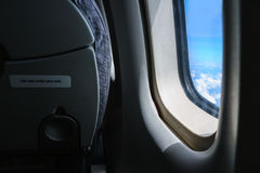 Φως από το παράθυρο του αεροπλάνου Στοκ φωτογραφία με δικαίωμα ελεύθερης χρήσης