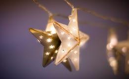 Φως αστεριών Χριστουγέννων στοκ φωτογραφία με δικαίωμα ελεύθερης χρήσης