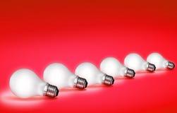 φως βολβών Στοκ φωτογραφίες με δικαίωμα ελεύθερης χρήσης