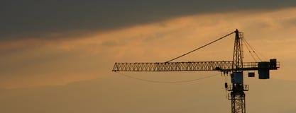 φως βραδιού γερανών Στοκ Εικόνα