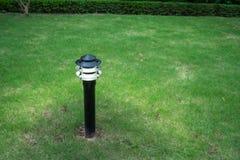 Φως διακοσμήσεων πυράκτωσης κήπων στο πάρκο τη νύχτα Στοκ εικόνες με δικαίωμα ελεύθερης χρήσης