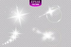 Φως ειδικό εφέ πυράκτωσης, φλόγα, αστέρι και απομονωμένος έκρηξη σπινθήρας απεικόνιση αποθεμάτων