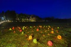 Φως επάνω και ελαφρύ φεστιβάλ στην περιοχή Arashiyama Στοκ εικόνα με δικαίωμα ελεύθερης χρήσης