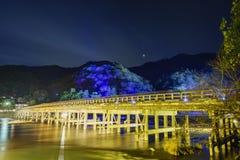 Φως επάνω και ελαφρύ φεστιβάλ στην περιοχή Arashiyama Στοκ Φωτογραφίες
