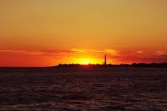 Φως επάνω ο φάρος Στοκ Εικόνες