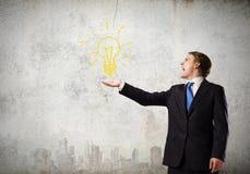 φως επιχειρησιακής ιδέας βολβών τραπεζογραμματίων Στοκ εικόνες με δικαίωμα ελεύθερης χρήσης