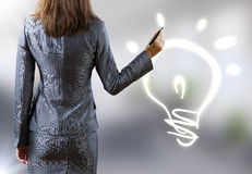 φως επιχειρησιακής ιδέας βολβών τραπεζογραμματίων Στοκ φωτογραφίες με δικαίωμα ελεύθερης χρήσης