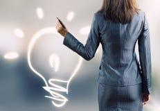 φως επιχειρησιακής ιδέας βολβών τραπεζογραμματίων Στοκ Φωτογραφίες