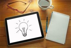 φως επιχειρησιακής ιδέας βολβών τραπεζογραμματίων Στοκ εικόνα με δικαίωμα ελεύθερης χρήσης