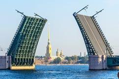 Φως ημέρας γεφυρών Αγίου Πετρούπολη Στοκ φωτογραφίες με δικαίωμα ελεύθερης χρήσης