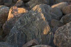 Φως ηλιοβασιλέματος στις πέτρες Στοκ φωτογραφία με δικαίωμα ελεύθερης χρήσης