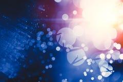 Φως θαμπάδων bokeh της τεχνολογίας μεταφοράς δεδομένων καινοτομίας οπτικής ίνας Στοκ φωτογραφία με δικαίωμα ελεύθερης χρήσης