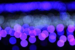 Φως θαμπάδων Bokeh Στοκ Φωτογραφία