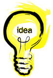 φως ιδέας βολβών Στοκ φωτογραφίες με δικαίωμα ελεύθερης χρήσης