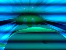 Φως κάτω από το λαμπτήρα Στοκ εικόνες με δικαίωμα ελεύθερης χρήσης