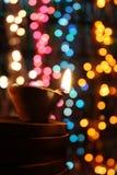 Φως και χρώματα Diwali στοκ φωτογραφίες με δικαίωμα ελεύθερης χρήσης