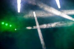 Φως κατά τη διάρκεια μιας συναυλίας στοκ εικόνα