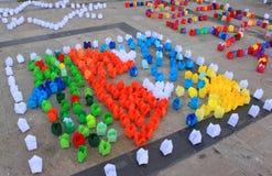 Φως κεριών εγγράφου που χρωματίζεται Στοκ φωτογραφίες με δικαίωμα ελεύθερης χρήσης